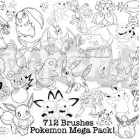 Huge Pack of Pokemon Brushes