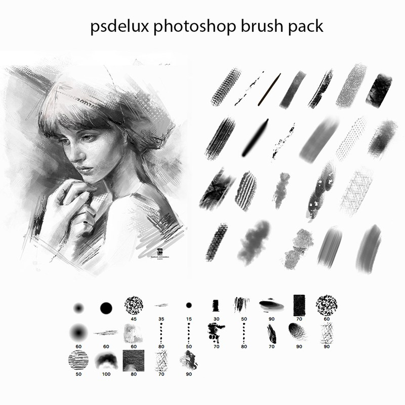 Photoshop brushes stroke, textured, paint