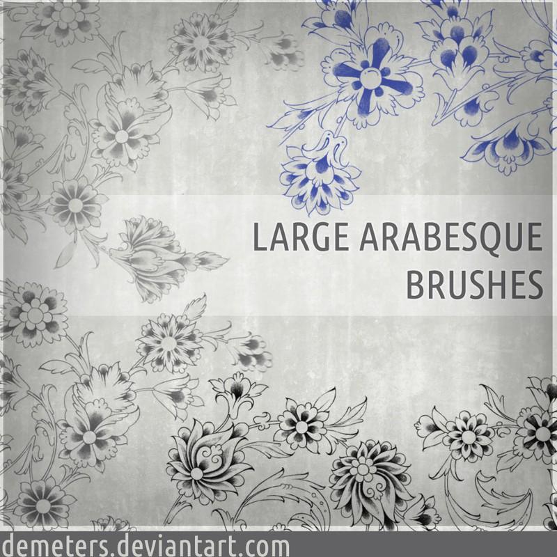Photoshop brushes floral, ornaments, arabesque
