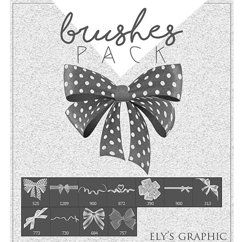 Photoshop brushes bow, ribbon
