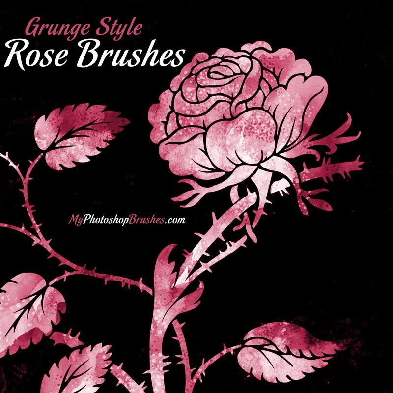 Photoshop brushes roses, flower