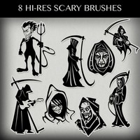 Scary Photoshop Brushes Pack
