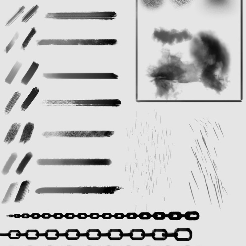 Photoshop brushes chain, stroke