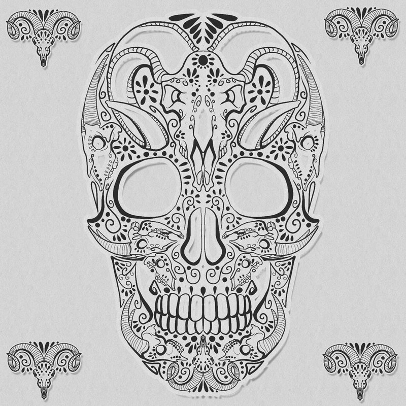 Photoshop brushes skull, decorative