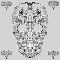 Skull Ornament Brush