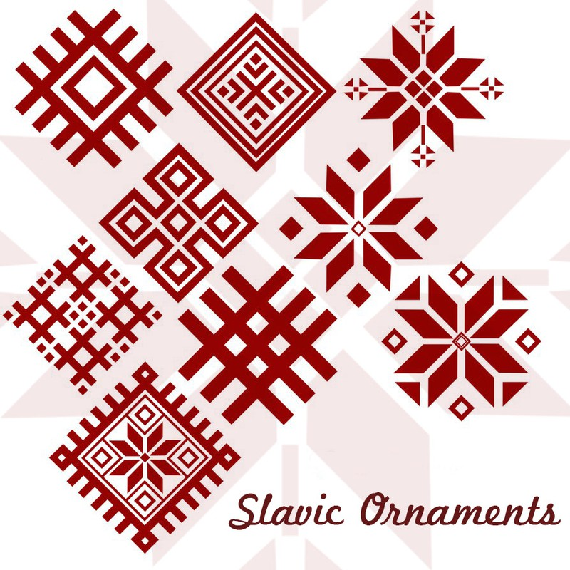 Photoshop brushes slavic, ornaments