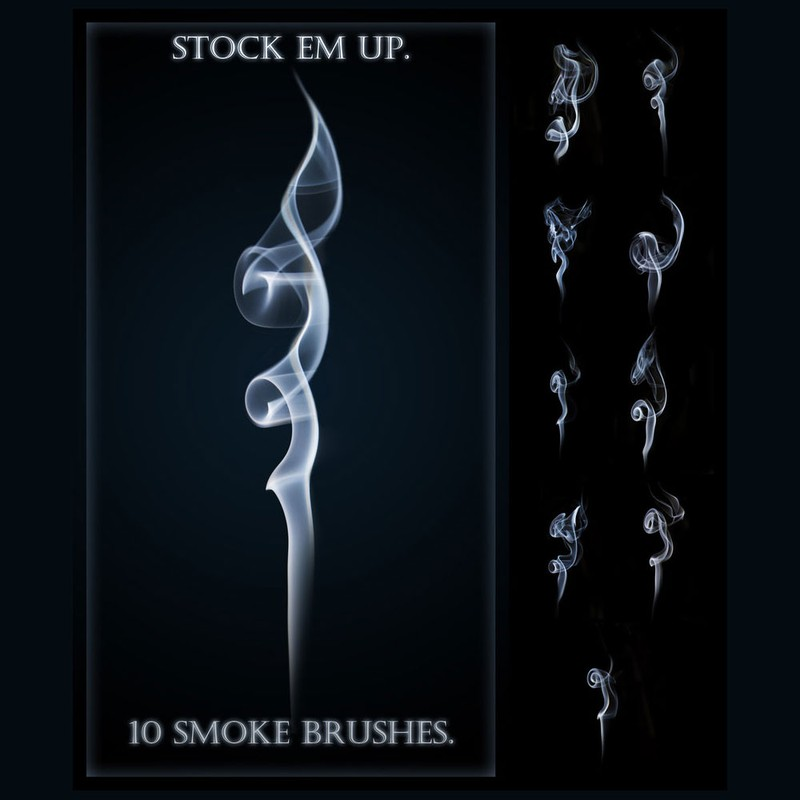 Photoshop brushes smoke