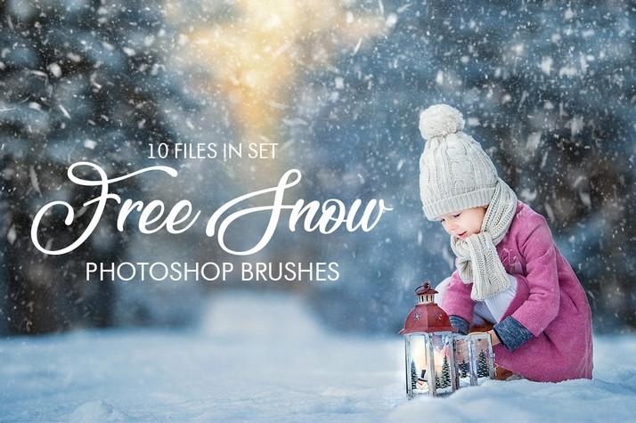 Photoshop brushes snow, effect