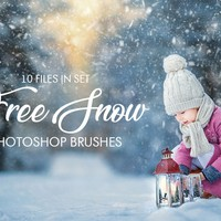 10 Free Snow Photoshop Brushes