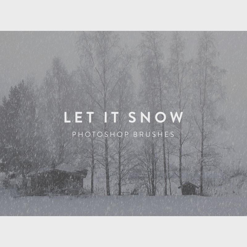 Photoshop brushes snow