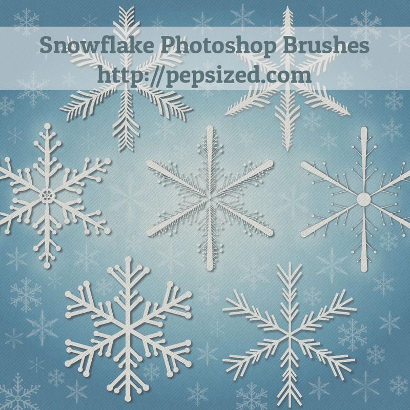Photoshop brushes snowflakes