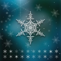 20 Snowflake Brushes