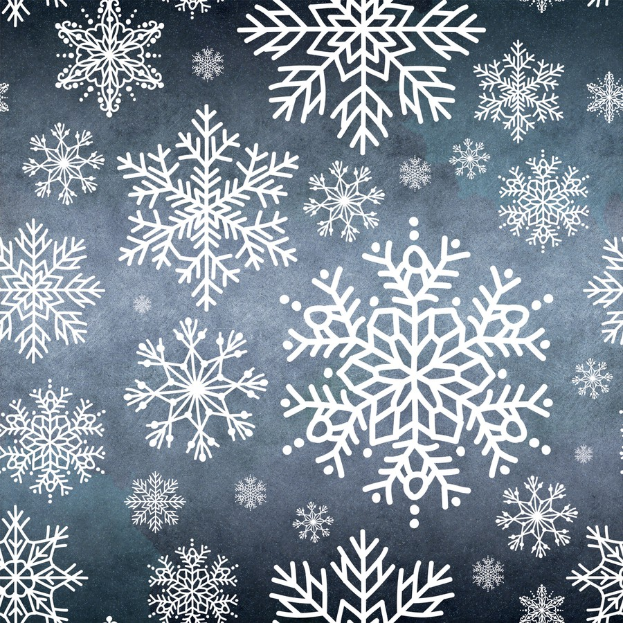 Photoshop brushes snowflakes, winter