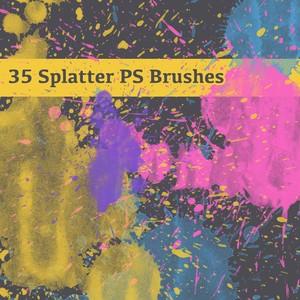 35 Free Splatter Brushes