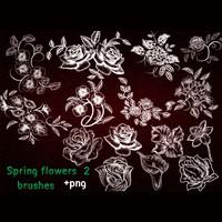 Spring Flowers Brushes