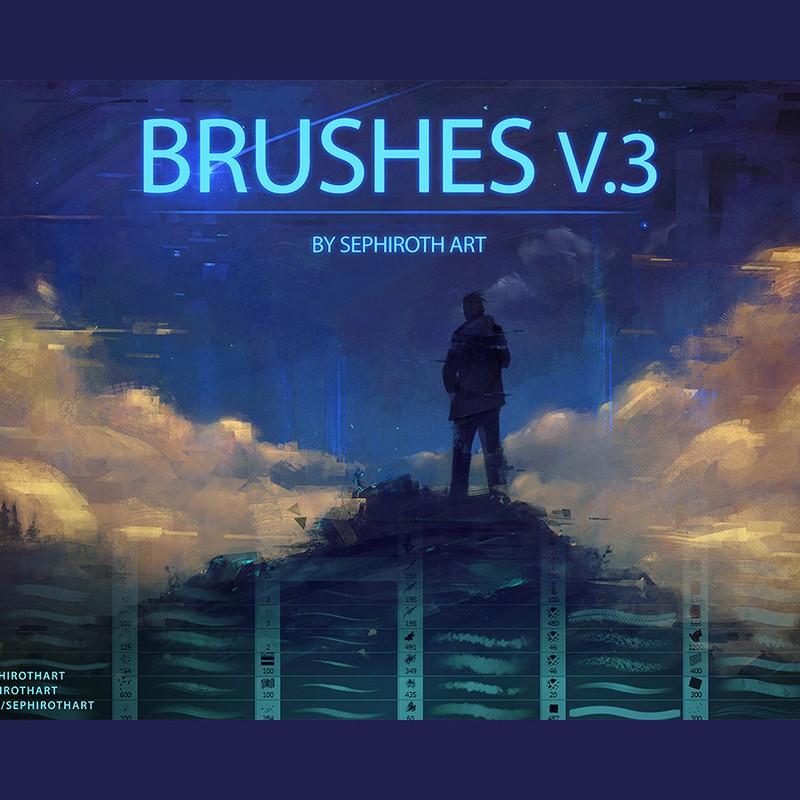 Photoshop brushes stroke, texture