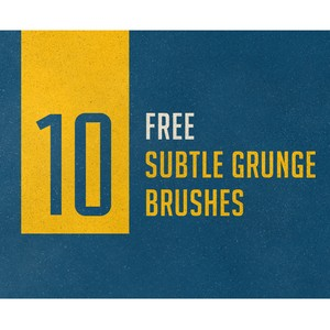 Subtle Grunge Photoshop Brushes