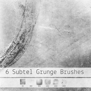 6 Subtle Grunge Brushes