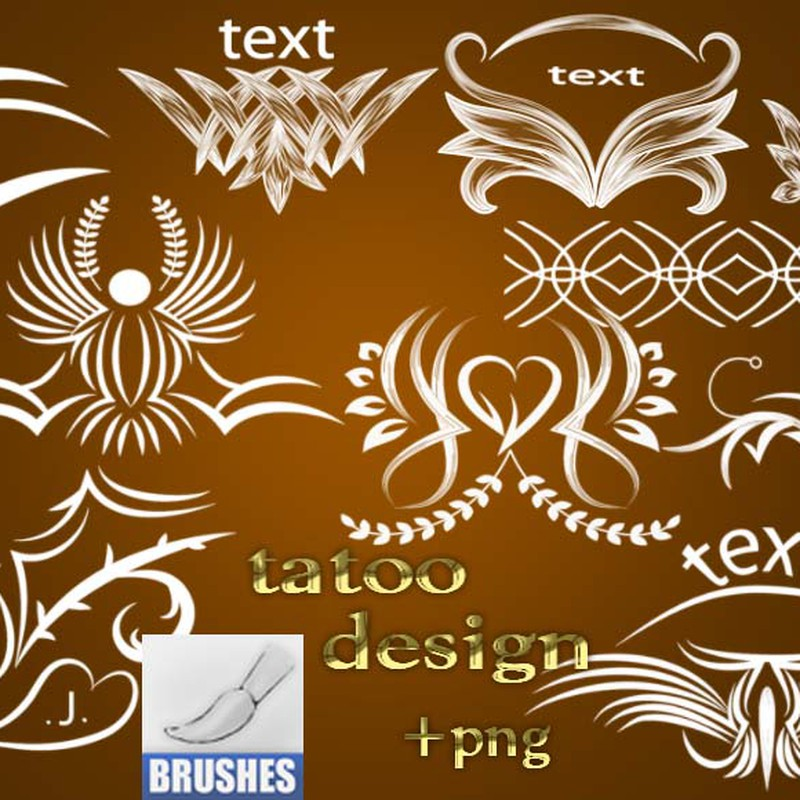 Photoshop brushes tattoo, design, template