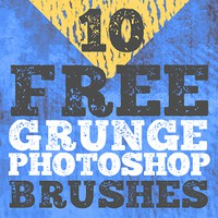 Free Photoshop Grunge Brushes by FixThePhoto