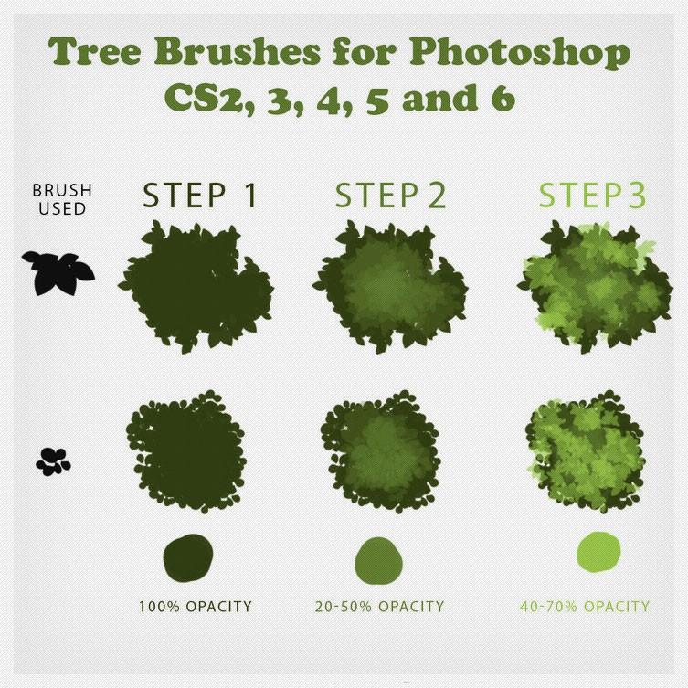 Photoshop brushes tree
