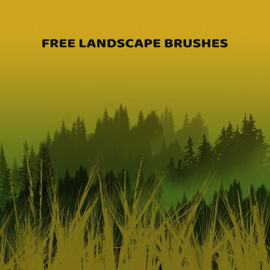 Photoshop brushes trees