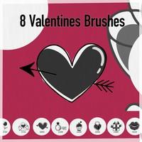 8 Valentines Symbols Brushes