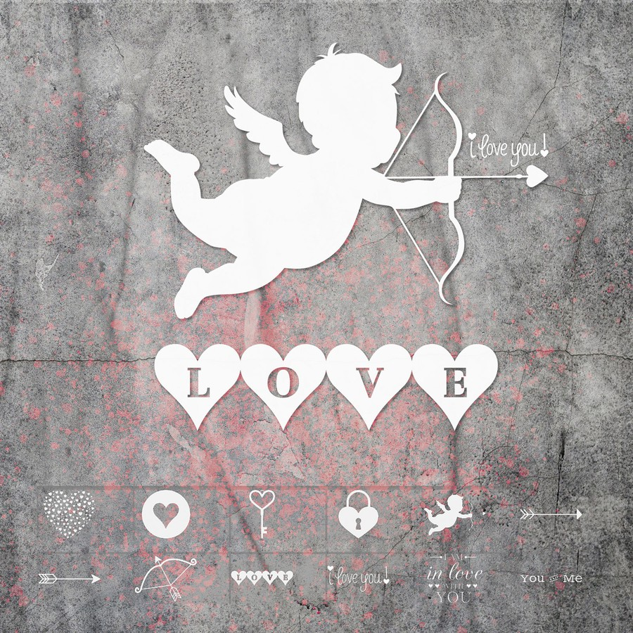 Photoshop brushes valentines, love, heart, cupiud