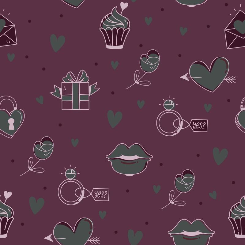Photoshop patterns valentines, pattern