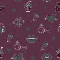 Doodle Valentine Pattern