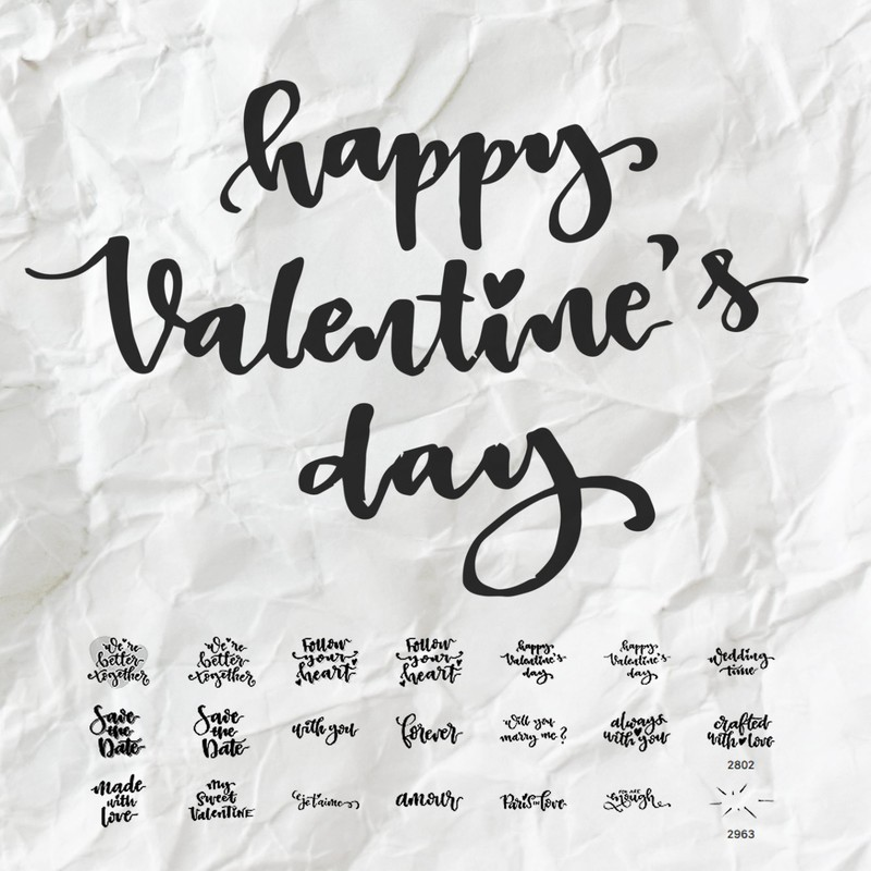 Photoshop brushes valentines, quote