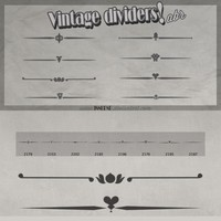 Vintage Dividers Free Brushes