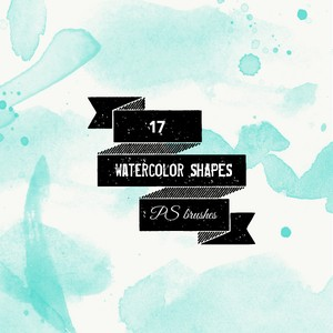 Watercolor Splatters and Shapes