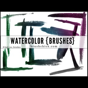 Watercolor Corner Brush Pack