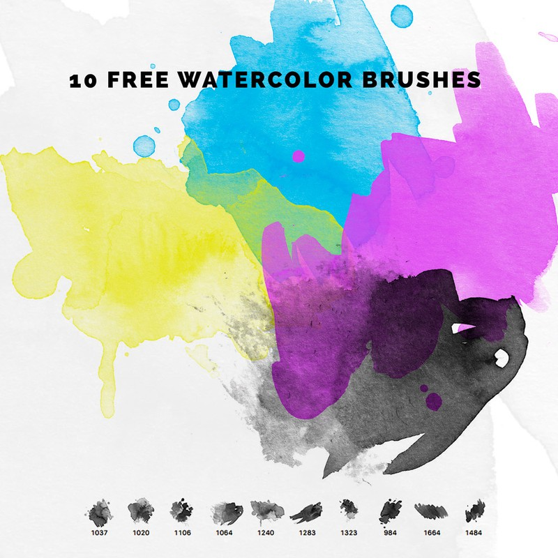 Photoshop brushes watercolor,