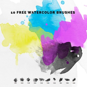 10 Free Watercolour PS Brushes