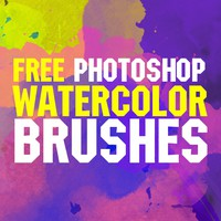 Free Watercolor Brushes for Photoshop by FixThePhoto