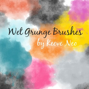 Wet Grunge Brushes Set