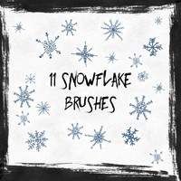 11 Free Snowflakes Brushes
