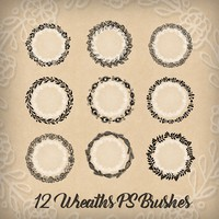 12 Wreaths Free PS Brushes