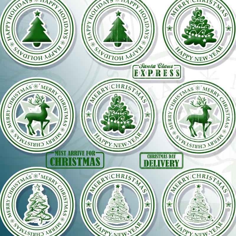 Photoshop brushes christmas, stamp