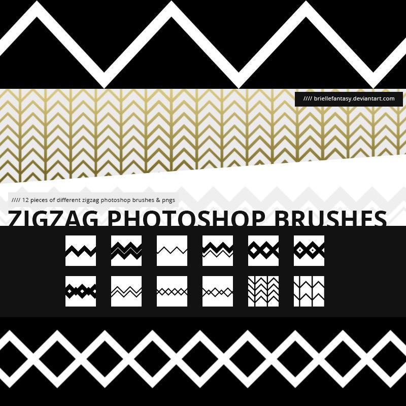 Photoshop brushes zigzag