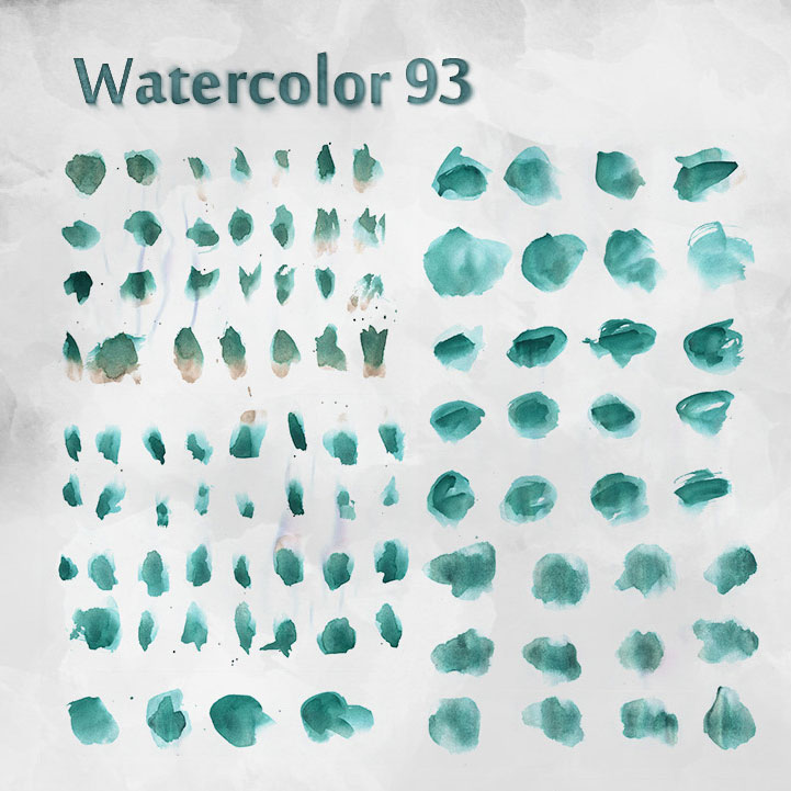 93 Free Watercolor Brushes - Photoshop brushes