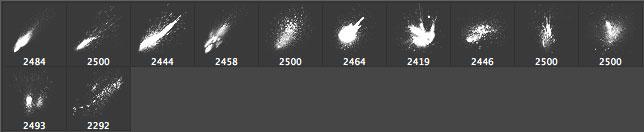 Spray Splatter Brush Pack - Photoshop brushes