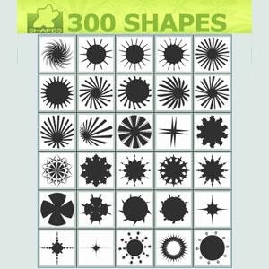 Custom All Stars >> Custom Shapes Stars - Photoshop custom shapes