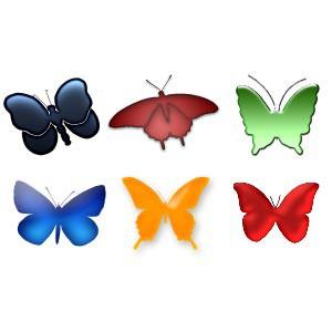 Photoshop custom shapes butterflies