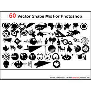 Photoshop custom shapes shapes