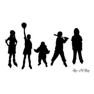 Photoshop custom shapes children, sport