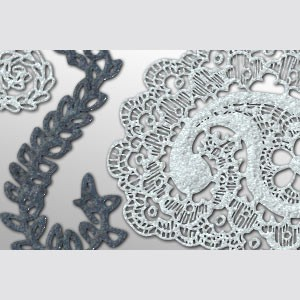 Photoshop custom shapes laces