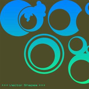 Photoshop custom shapes abstract, circles
